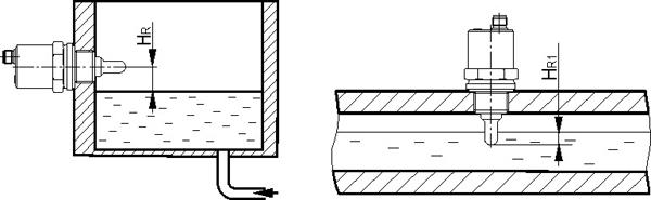 схема монтажа емкостного датчика